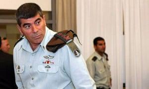 Lieutenant-General Gabi Ashkenazi, the Israeli military chief, at the flotilla raid inquiry