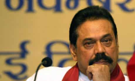 Sri Lankan President Mahinda Rajapaksa