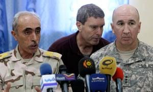 Lieutenant General Babakir Zebari of Iraq and Lieutenant General Michael Barbero of the US