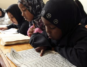 Ramadan update: Children in a Madrassa reciting the Holy Quran during Ramadan