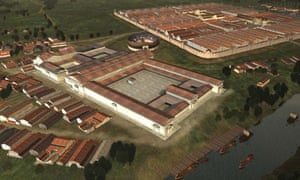 Reconstruction of Caerleon in the Roman period
