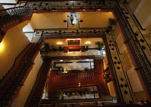 Taj Mahal Palace hotel: Employees of the Taj Palace Hotel inside the heritage wing of the hotel