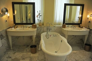 Taj Mahal Palace hotel: A bathroom in the newly-restored heritage wing
