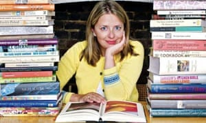 Rachel Cooke with cookbooks