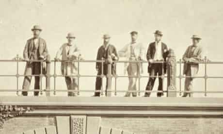 Jacob Wrey Mould, second from right, in Central Park