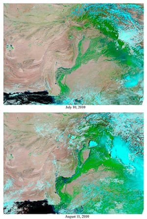 Pakistan Flood Disaster: Nasa satellite images of the Indus River before and after the floods
