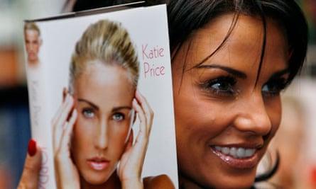Katie Price promoting her third autobiography.