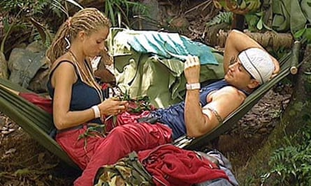 Katie Price and Peter Andre in the jungle