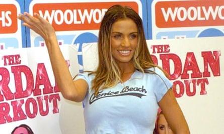 Katie Price promoting her Jordan Workout DVD.