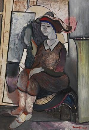 Pordenone Montanari: Modella Seduta con Specchio, 1984
