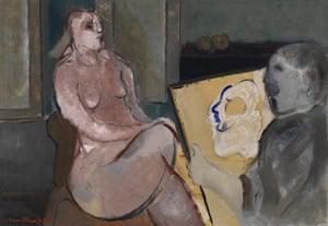 Pordenone Montanari: Il Pittore e la modella,1978
