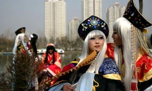 Animation Fans Perform Cosplay In Xian