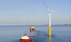 A Hywind floating wind turbine