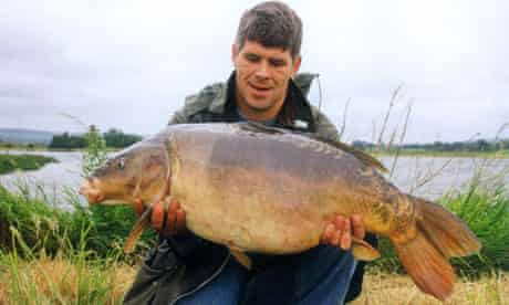 Phil Lloyd with Two Tone in 1992, the first time the mighty carp was caught.