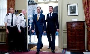 David Cameron and Nick Clegg, Downing Street