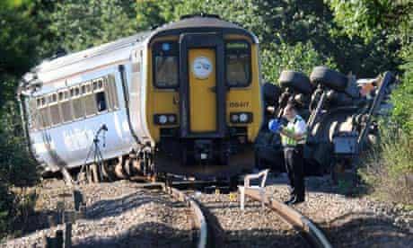Train crash in Suffolk