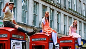 Edinburgh festival: Telephone boxes