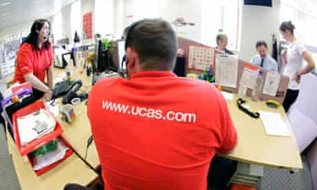 Employees in the UCAS clearing house call centre