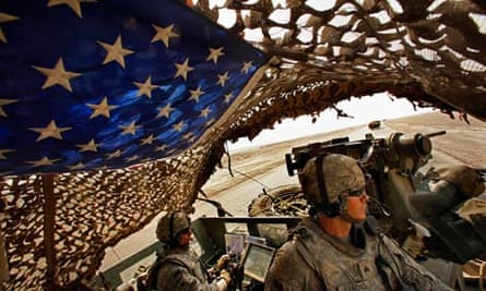 The 4th Stryker Brigade cross the desert. They are the last US combat unit to leave Iraq