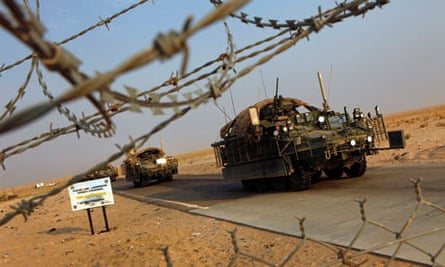 It took 4th Stryker Brigade three days to make the journey across the border into Kuwait