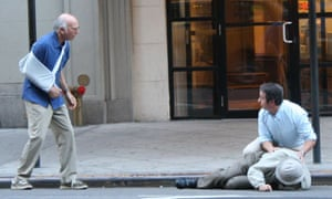 Larry David filming Curb Your Enthusiasm in New York City in 2010. Photograph: Paul Owen