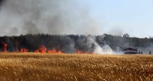Forest fires in Russia: Firefighters try to douse a fire set at the edge of Voronezh
