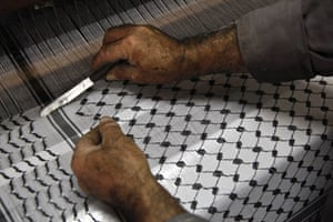 Keffiyeh factory Hebron: Hirbawi Textiles once employed 15 men in the factory