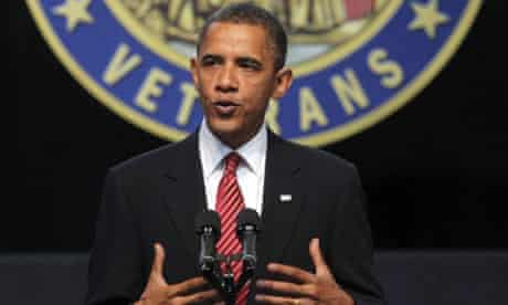 Barack Obama speaking at Disabled veterans of America conference