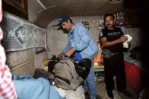 Roma deportation: Men belonging to the Roma community in caravan