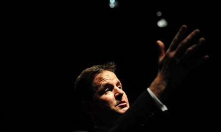 Nick Clegg at a Q&A session in Newcastle on 19 August 2010.