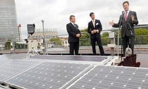 Nick Clegg opens a solar farm in Sheffield