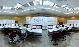 The control room at Iran's Bushehr nuclear power plant