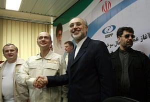 Nuclear Power in Iran: Kiriyenko shakes hands with Atomic Energy Organization of Iran Salehi