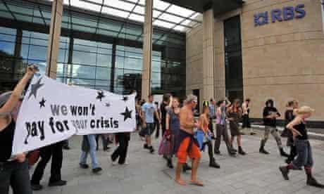 Climate camp in Edinburgh