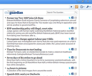 Screenshot of the guardian chrome extension