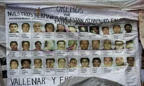 Poster of the trapped Chilean miners
