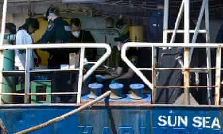 Tamil refugees in Canada on board the MV Sun Sea