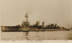The British first world war battleship HMS Cassandra