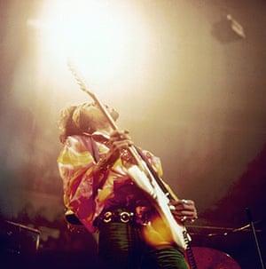 Hendrix Handel House: Jimi Hendrix performing at the Royal Albert Hall, February 1969