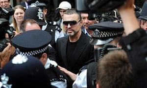George Michael leaving Highbury Corner magistrates court