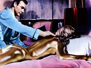 Sean Connery turns 80: Sean Connery as James Bond, with Shirley Eaton in Goldfinger 1964