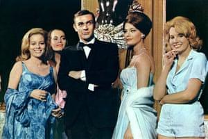 Sean Connery turns 80: Sean Connery & Bond Girls in James Bond: Thunderball 1965