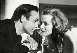 Sean Connery turns 80: Sean Connery and Honor Blackman during filming of Goldfinger