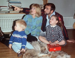Connery with his then wife Diane Cilento and family.