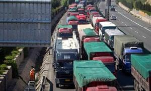 china motorway has 60-mile tailback