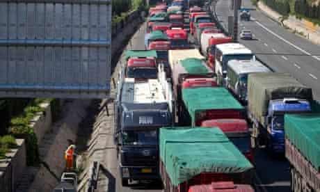 60-mile traffic jam in China