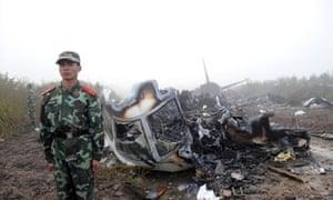 Plane crash of a passenger plane, Yichun City, China - 24 Aug 2010
