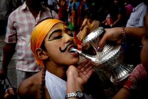 24 hours in pictures: Gai Jatra Festival in Kathmandu