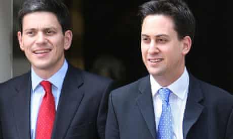 David Miliband (left) and Ed