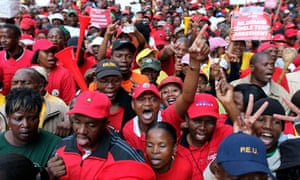 South African state workers strike